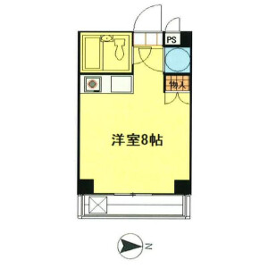 1R Mansion in Tokumaru - Itabashi-ku Floorplan