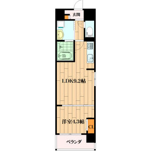 1LDK Mansion in Sakuragawa - Osaka-shi Naniwa-ku Floorplan