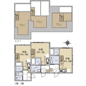Whole Building {building type} in Mutsukawa - Yokohama-shi Minami-ku Floorplan