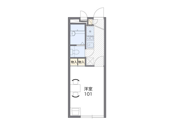1K Apartment to Rent in Osaka-shi Tsurumi-ku Floorplan