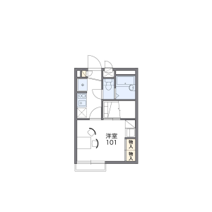 1K Apartment in Machiya - Arakawa-ku Floorplan