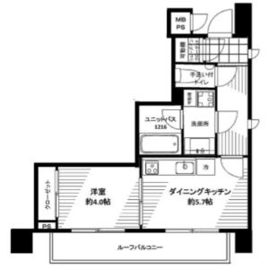 1DK {building type} in Yoyogi - Shibuya-ku Floorplan