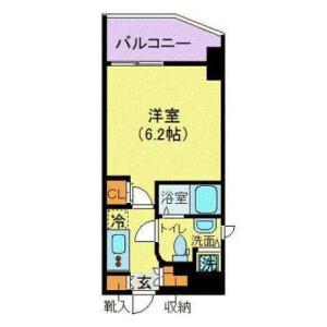港区 - 南青山 大厦式公寓 1K 楼层布局