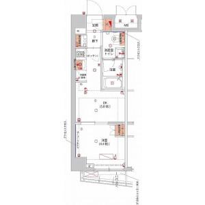 1DK Mansion in Yamabukicho - Shinjuku-ku Floorplan