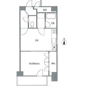 1DK Mansion in Mishuku - Setagaya-ku Floorplan