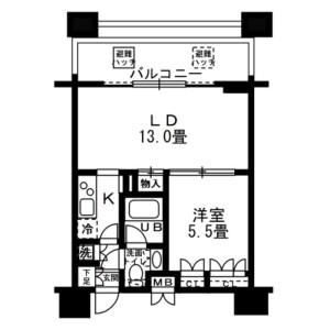 1LDK Mansion in Kinshi - Sumida-ku Floorplan