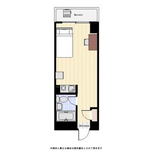 港區麻布狸穴町-1R公寓大廈 房間格局