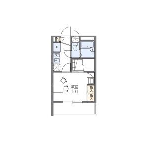 1K Mansion in Nishiaoki - Kawaguchi-shi Floorplan