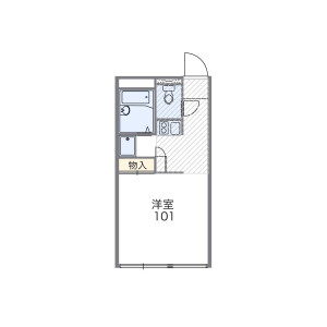 1K Mansion in Chibaderacho - Chiba-shi Chuo-ku Floorplan