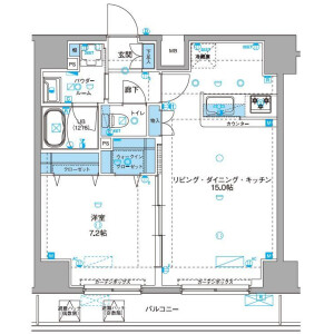 1LDK Mansion in Senzoku - Taito-ku Floorplan
