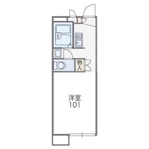 1K Mansion in Shimizu - Osaka-shi Asahi-ku Floorplan