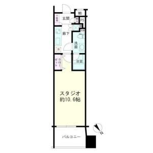 1K Mansion in Yamashitacho - Yokohama-shi Naka-ku Floorplan
