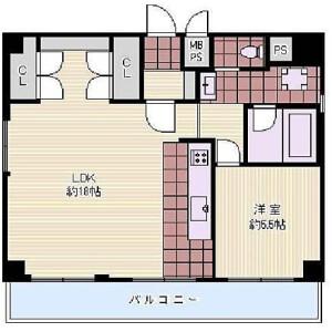 大阪市北区 天満 1LDK {building type} 間取り