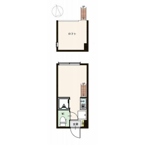 1R Apartment in Takadanobaba - Shinjuku-ku Floorplan