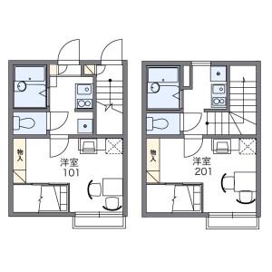 1K Apartment in Nishishinozaki - Edogawa-ku Floorplan