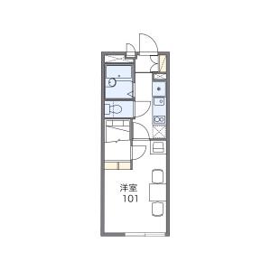 1K Mansion in Nakanocho - Osaka-shi Miyakojima-ku Floorplan