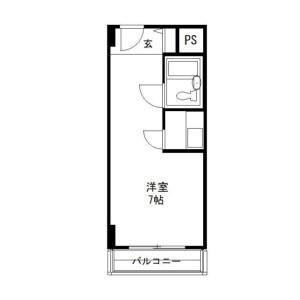 1R Mansion in Kandasurugadai - Chiyoda-ku Floorplan