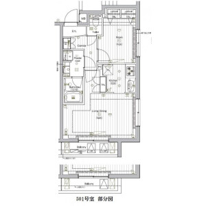 1LDK Mansion in Nishishinagawa - Shinagawa-ku Floorplan