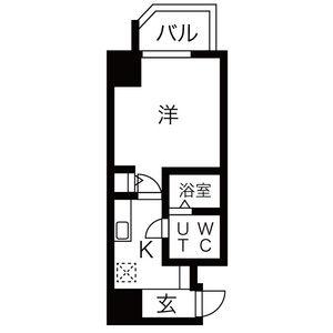 神戸市中央区 中町通 1K マンション 間取り