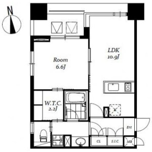 1LDK Mansion in Nihombashibakurocho - Chuo-ku Floorplan