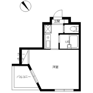 1K Mansion in Koishikawa - Bunkyo-ku Floorplan