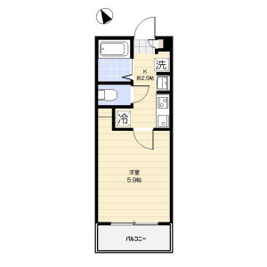 1K Apartment in Wakabayashi - Setagaya-ku Floorplan