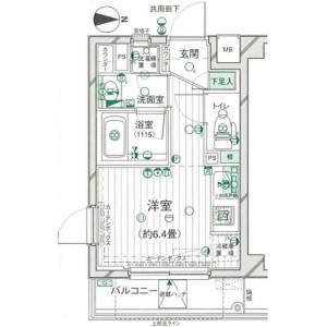 1R Mansion in Daikyocho - Shinjuku-ku Floorplan