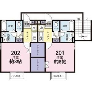 横濱市青葉區藤が丘-1K公寓大廈 房間格局