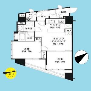 渋谷区 恵比寿 2LDK {building type} 間取り
