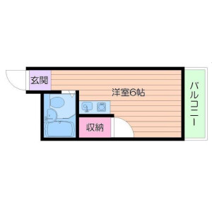 1R Apartment in Imagawa - Osaka-shi Higashisumiyoshi-ku Floorplan