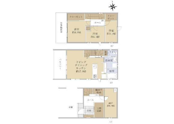 3LDK House to Buy in Sendai-shi Taihaku-ku Floorplan