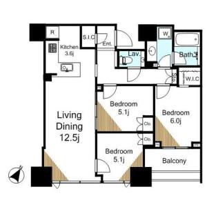 3LDK Apartment in Okubo - Shinjuku-ku Floorplan