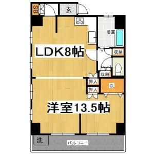 1LDK Mansion in Sugamo - Toshima-ku Floorplan