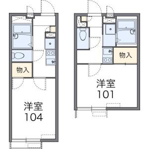 1K Apartment in Hoshigaoka - Sagamihara-shi Chuo-ku Floorplan