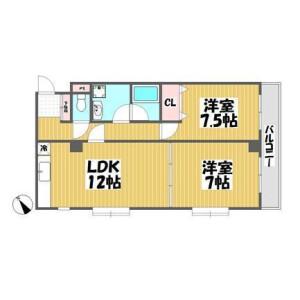 2LDK Mansion in Nakacho - Meguro-ku Floorplan