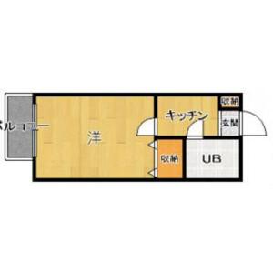 1R Mansion in Akasaka - Fukuoka-shi Chuo-ku Floorplan