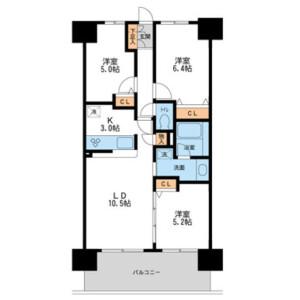 3LDK Mansion in Minamisenju - Arakawa-ku Floorplan