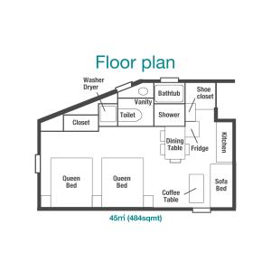 1R Mansion in Akasaka - Minato-ku Floorplan