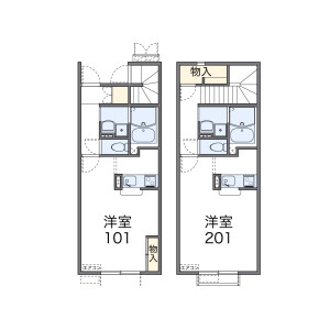 1K Apartment in Sunjiyata - Osaka-shi Higashisumiyoshi-ku Floorplan