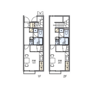 1K Apartment in Shimouma - Setagaya-ku Floorplan