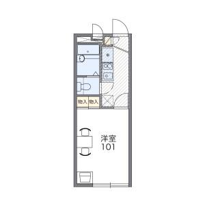 1K Apartment in Nishirokugo - Ota-ku Floorplan