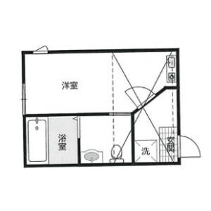 1R Apartment in Kamezumicho - Yokohama-shi Kanagawa-ku Floorplan