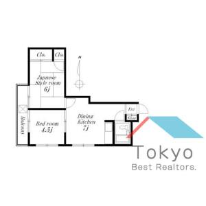 2DK Mansion in Waseda tsurumakicho - Shinjuku-ku Floorplan
