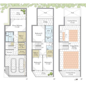 4LDK House in Higashigotanda - Shinagawa-ku Floorplan