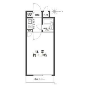 1K Mansion in Jinnan - Shibuya-ku Floorplan