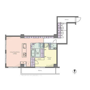 1LDK {building type} in Motoazabu - Minato-ku Floorplan