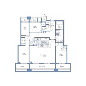 3LDK {building type} in Ebisu - Minato-ku Floorplan