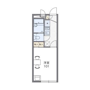 1K Apartment in Akabane - Kita-ku Floorplan