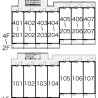 1K Apartment to Rent in Nagoya-shi Kita-ku Layout Drawing