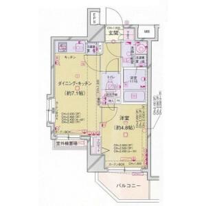 1DK Mansion in Higashigotanda - Shinagawa-ku Floorplan